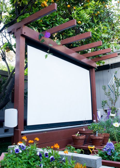 DIY Outdoor Movie Theater.