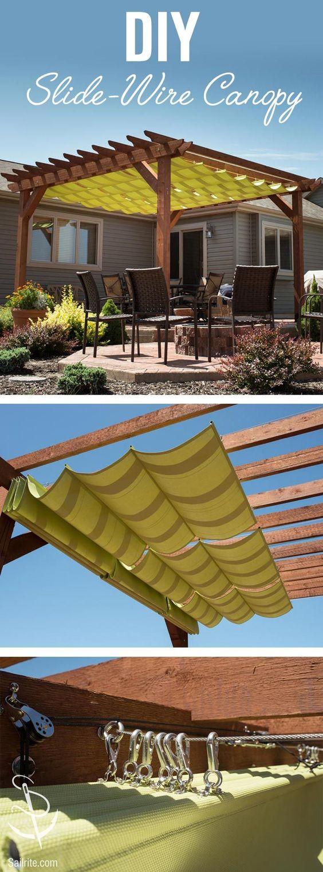 DIY Slide Wire Canopy.