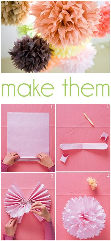 20 creative paper flower diy projects for your home decoration tissue paper pom poms mightylinksfo