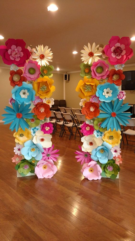 20 creative paper flower diy projects for your home decoration paper flower wedding decoration mightylinksfo