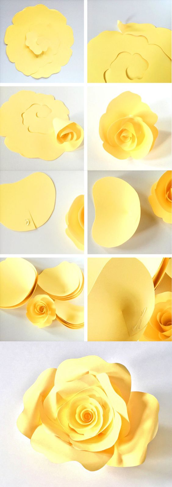 DIY Paper Roses With Free Printable Template.