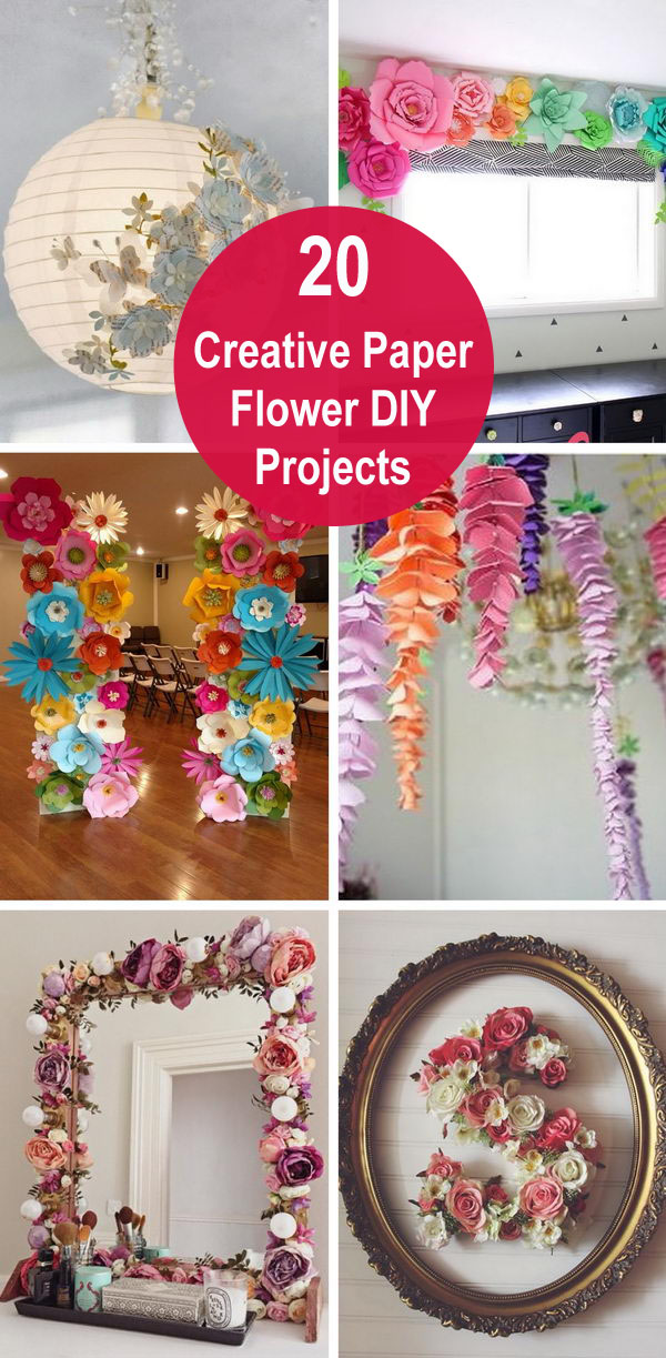 20 Creative Paper Flower Diy Projects For Your Home Decoration