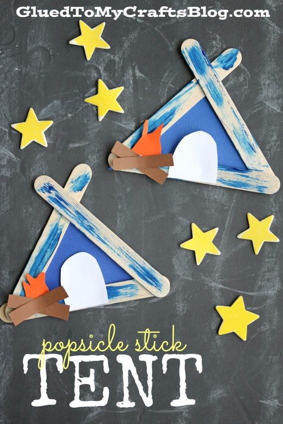 Popsicle Stick Tent.