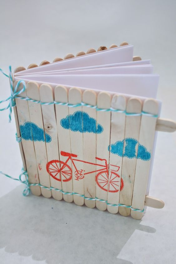 Popsicle Stick Notebook.