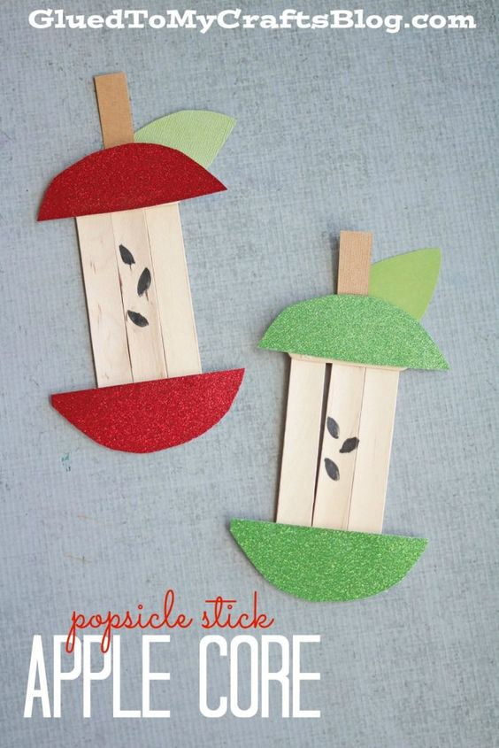 Popsicle Stick Apple Core.