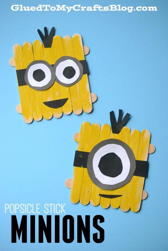 Popsicle Stick Minions.