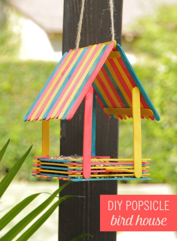 Turn Popsicles into an Adorable Bird House.