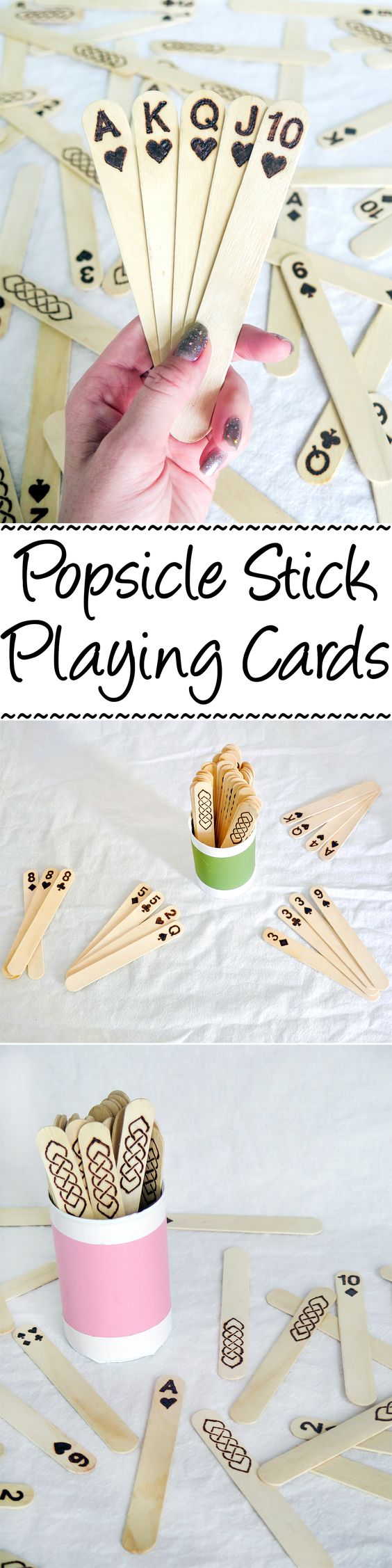 Popsicle Stick Playing Cards.