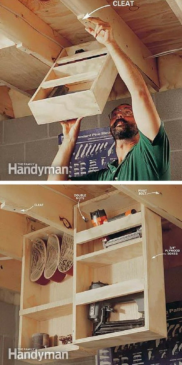 Overhead Garage Storage Shelves How To Build