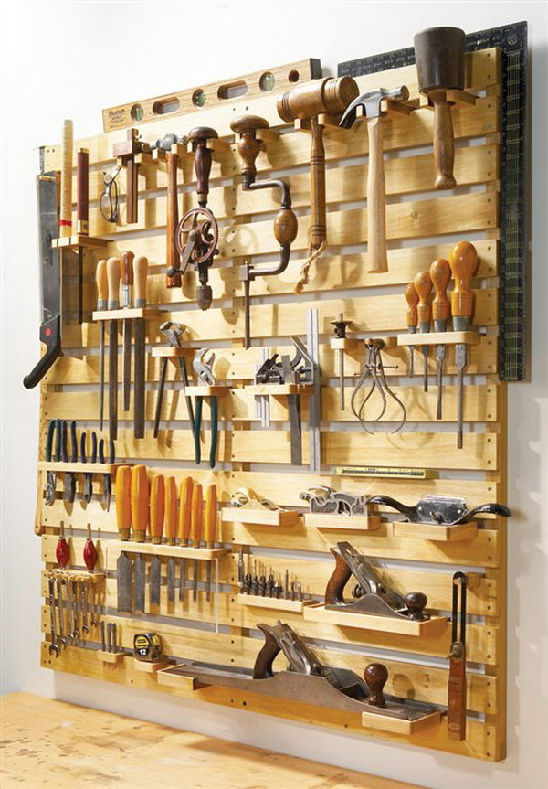 Hold Everything Tool Rack.