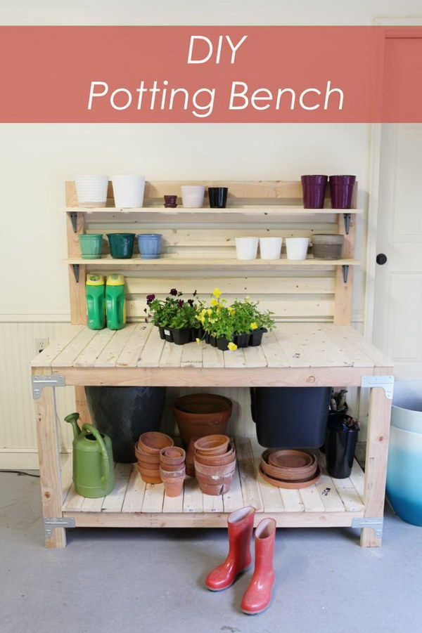 DIY Potting Bench.