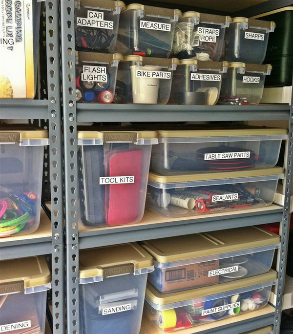 Keep Everything Organized and Easy to Access with Labels.