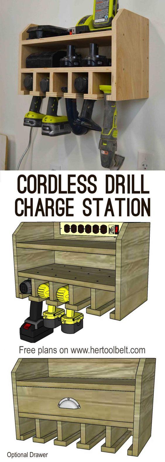 Cordless Drill Storage.