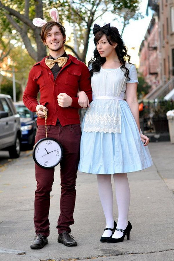 White Rabbit and Alice in Wonderland Costumes.