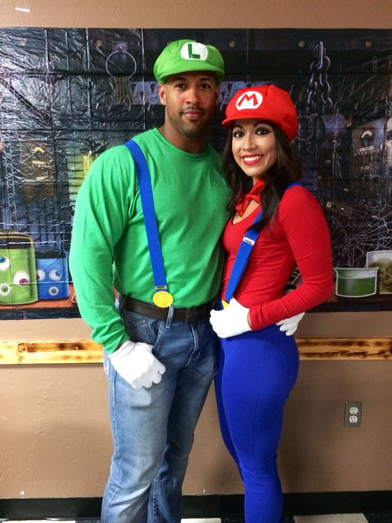 Mario and Luigi Couple Costume.
