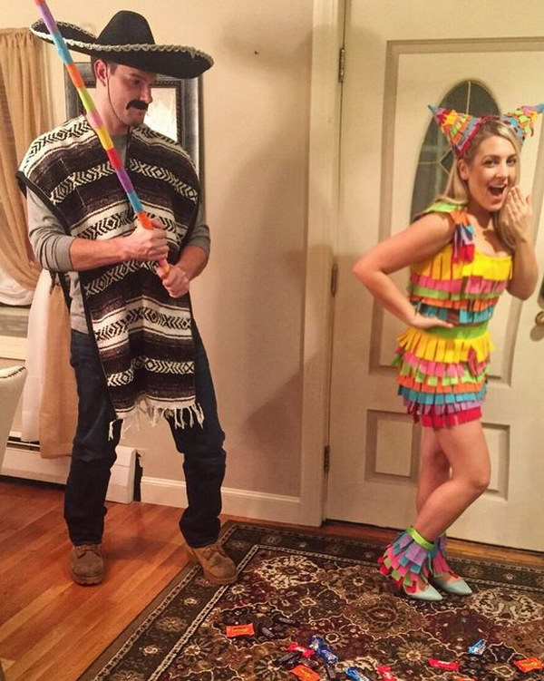 Mexican Pinata Couple Costume.