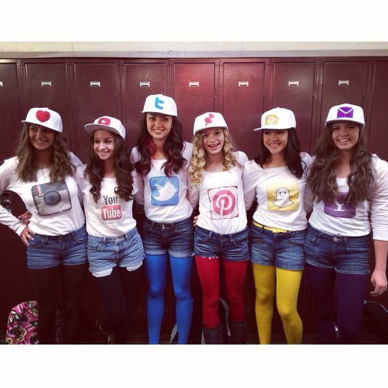 Social Media Group Costumes for Girls.