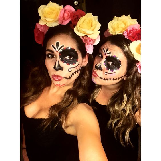 Sugar Skull Halloween Costume.