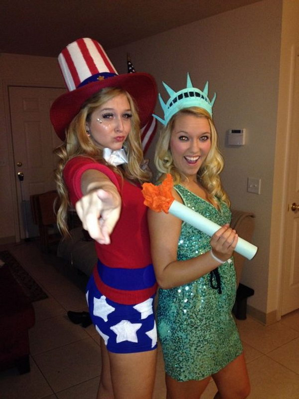 Sexy lady liberty costume