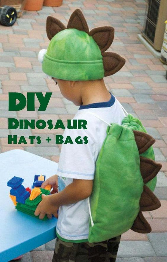 20 homemade dinosaur costumes for halloween diy dinosaur favor bags hats solutioingenieria Choice Image