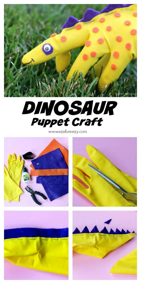 Easy Dinosaur Puppet Gloves.