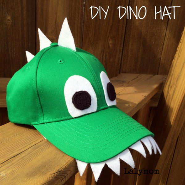 20 homemade dinosaur costumes for halloween diy dinosaur costume hat solutioingenieria Choice Image