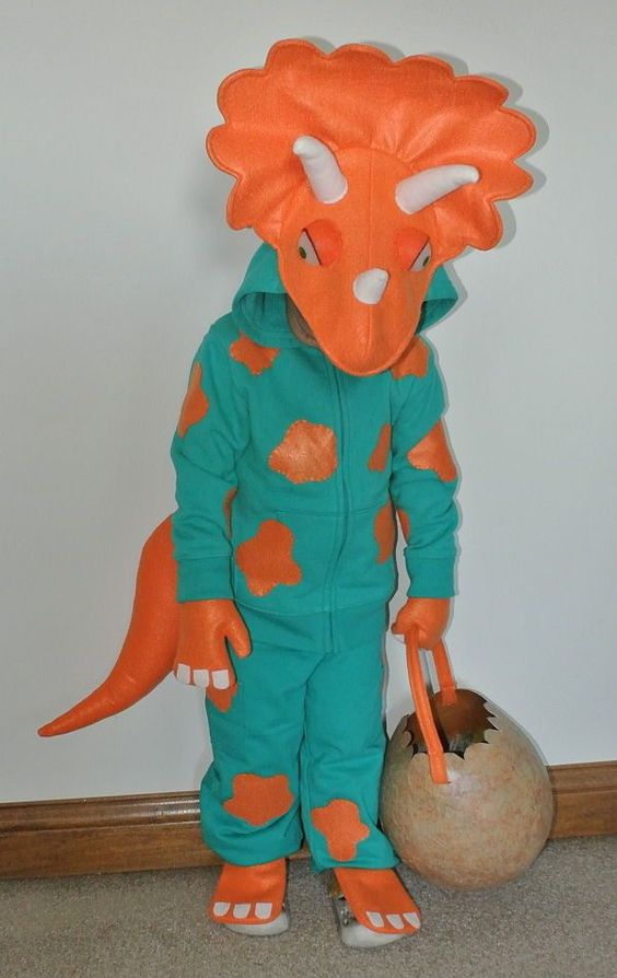 Triceratops Costume & 20+ Homemade Dinosaur Costumes for Halloween