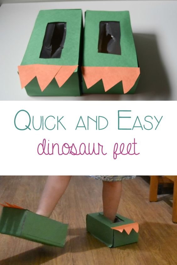 Easy DIY Dinosaur Feet.