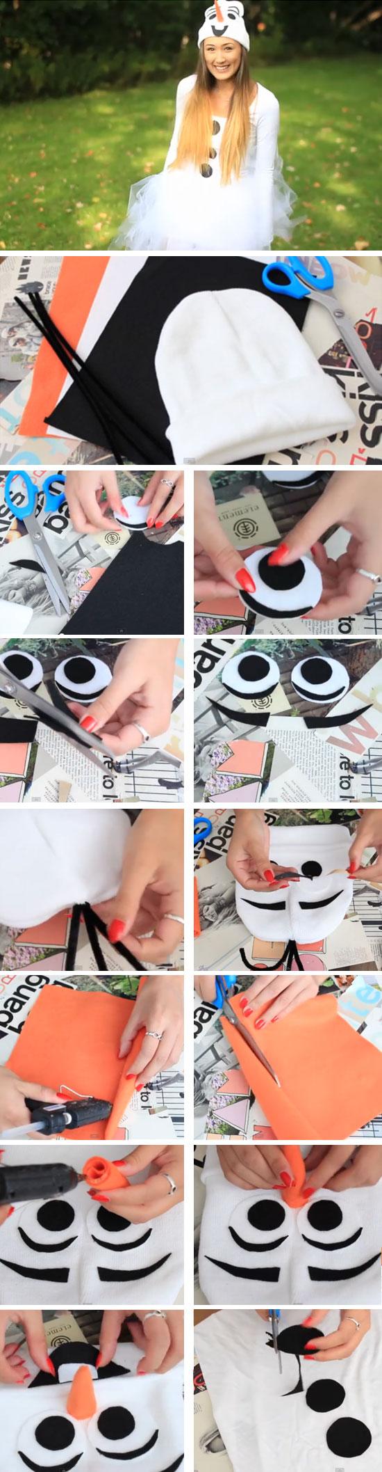 DIY Olaf Costume.
