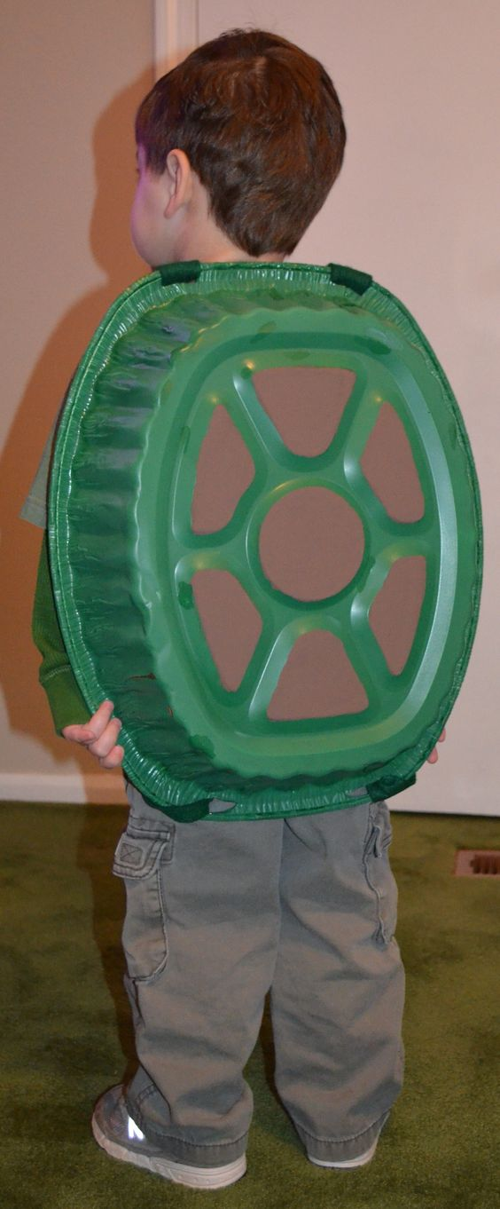 DIY Turtle Shell Costume.