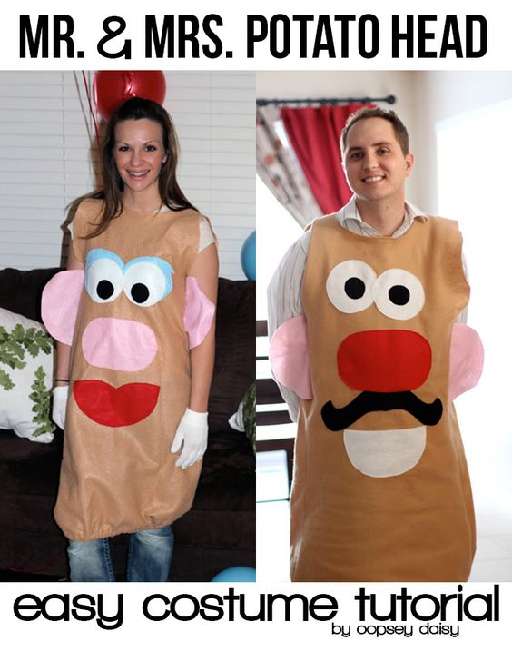 Mr. And Mrs. Potato Head Costume.