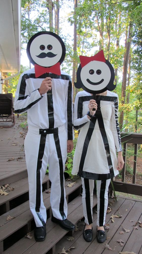 Stick Figure Costume.