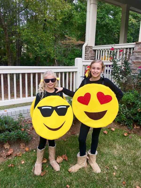 DIY Emoji Costume.