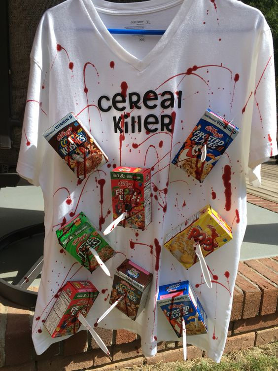 DIY Cereal Killer Halloween Costume.