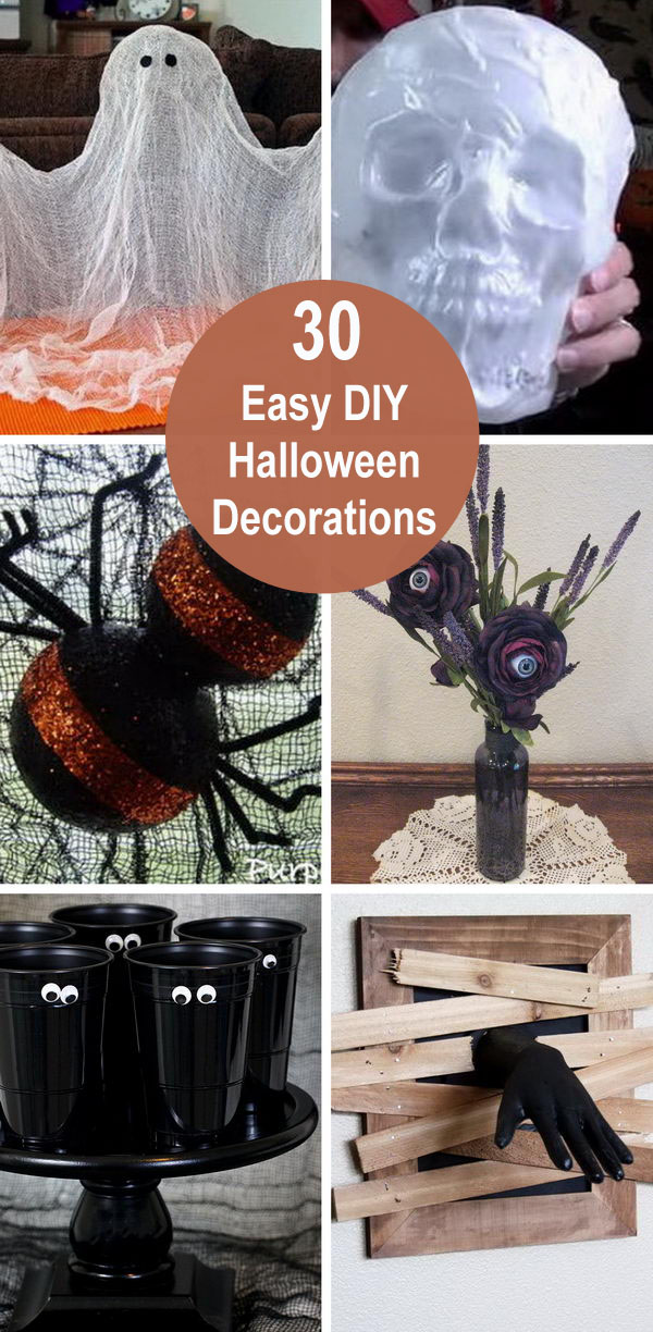 30+ Easy DIY Halloween Decorations.