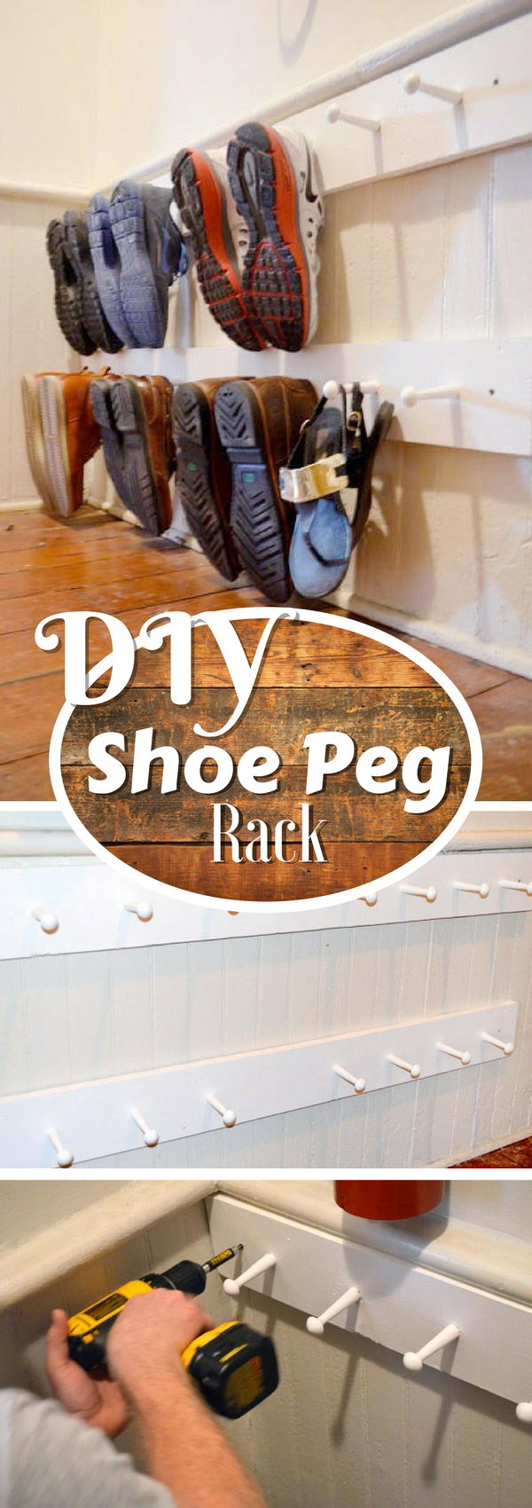 Easy Shoe Peg Rack.