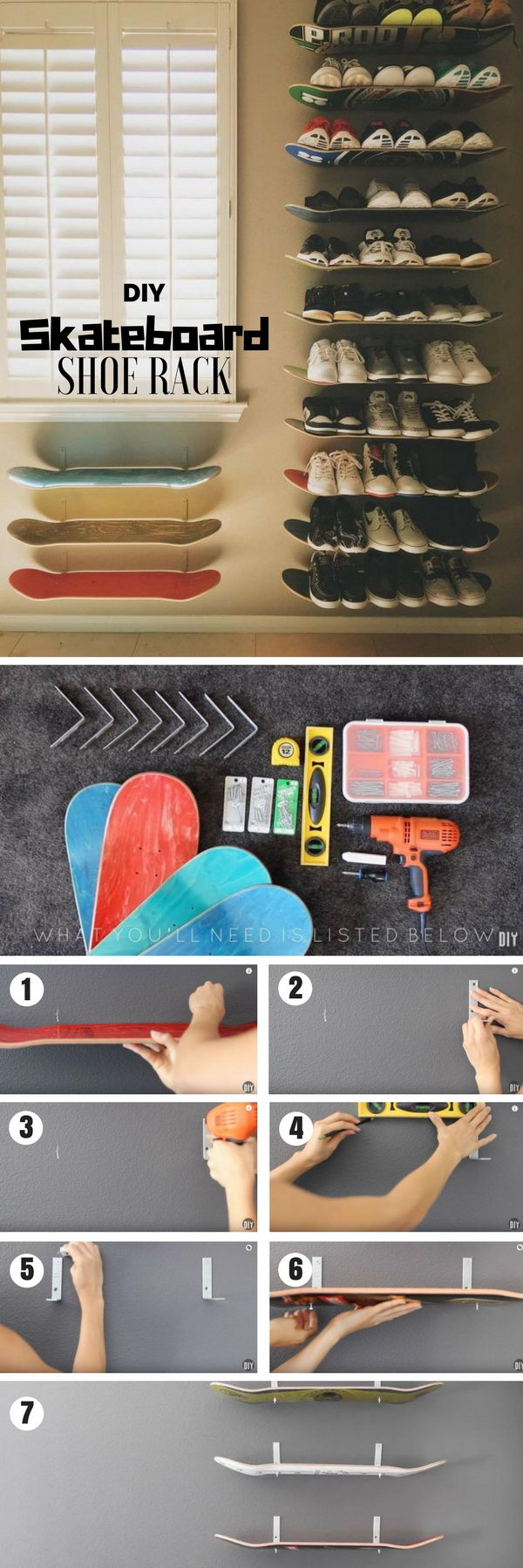 Skateboard Shoe Rack