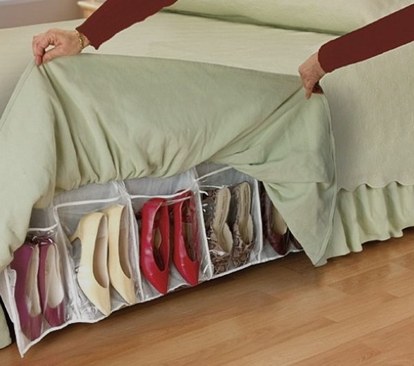 Under Bed Shoe Storage.
