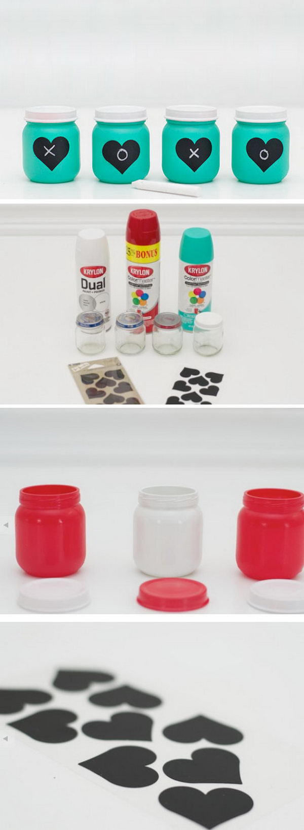 Love Heart Favor Jars.